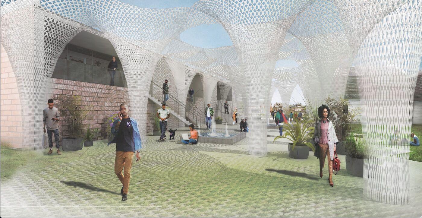 Design illustration of American Riad