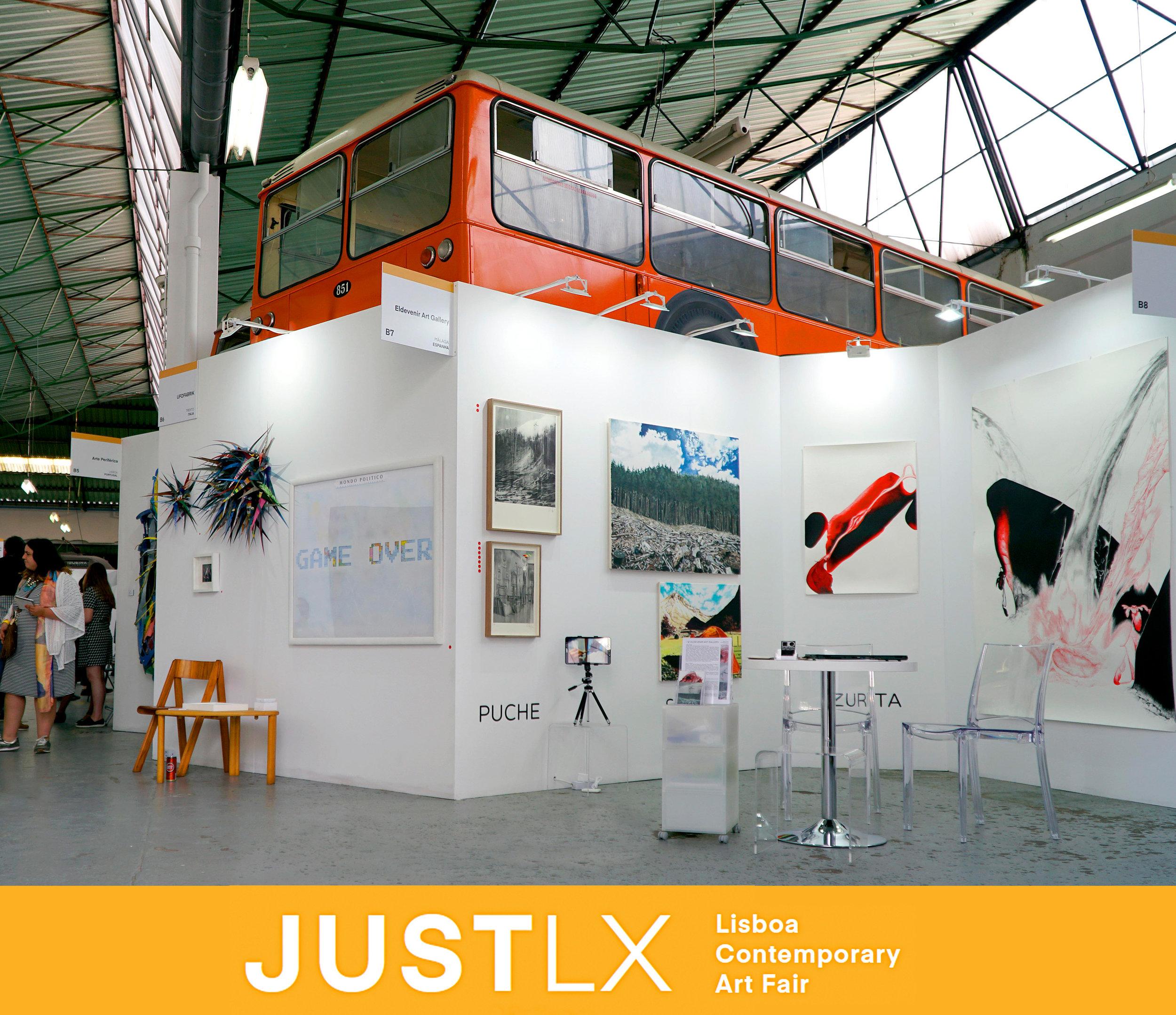 Irene Sánchez + Jesús Zurita + José L. Puche, JUSTLX - 17 - 20 mayo 2018Booth B7Lisboa Contemporay Art FairMuseu da CarrisLisboa, Portugal.
