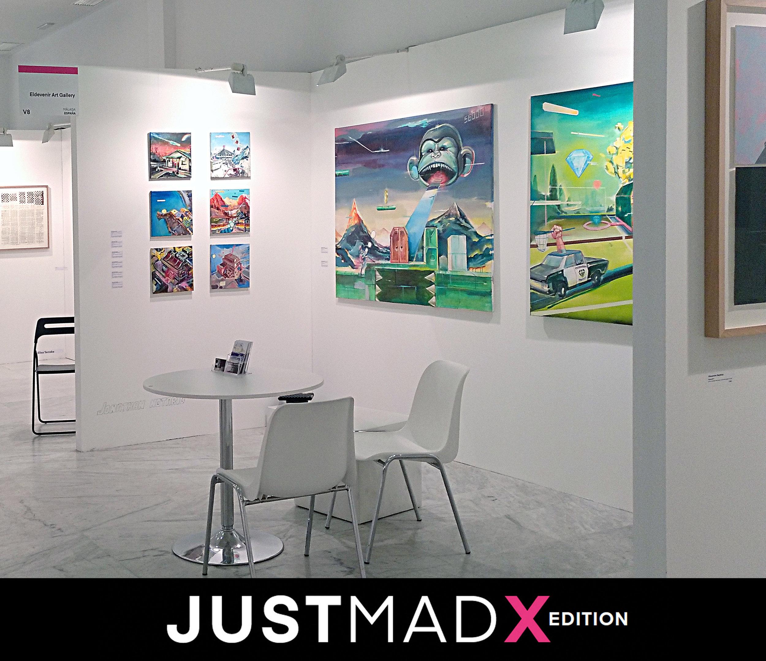 Simon Zabell + Jonathan Notario, JUSTMAD X - 26 febrero - 3 marzo 2019Booth V8Contemporay Art FairPalacio de NeptunoMadrid, España.