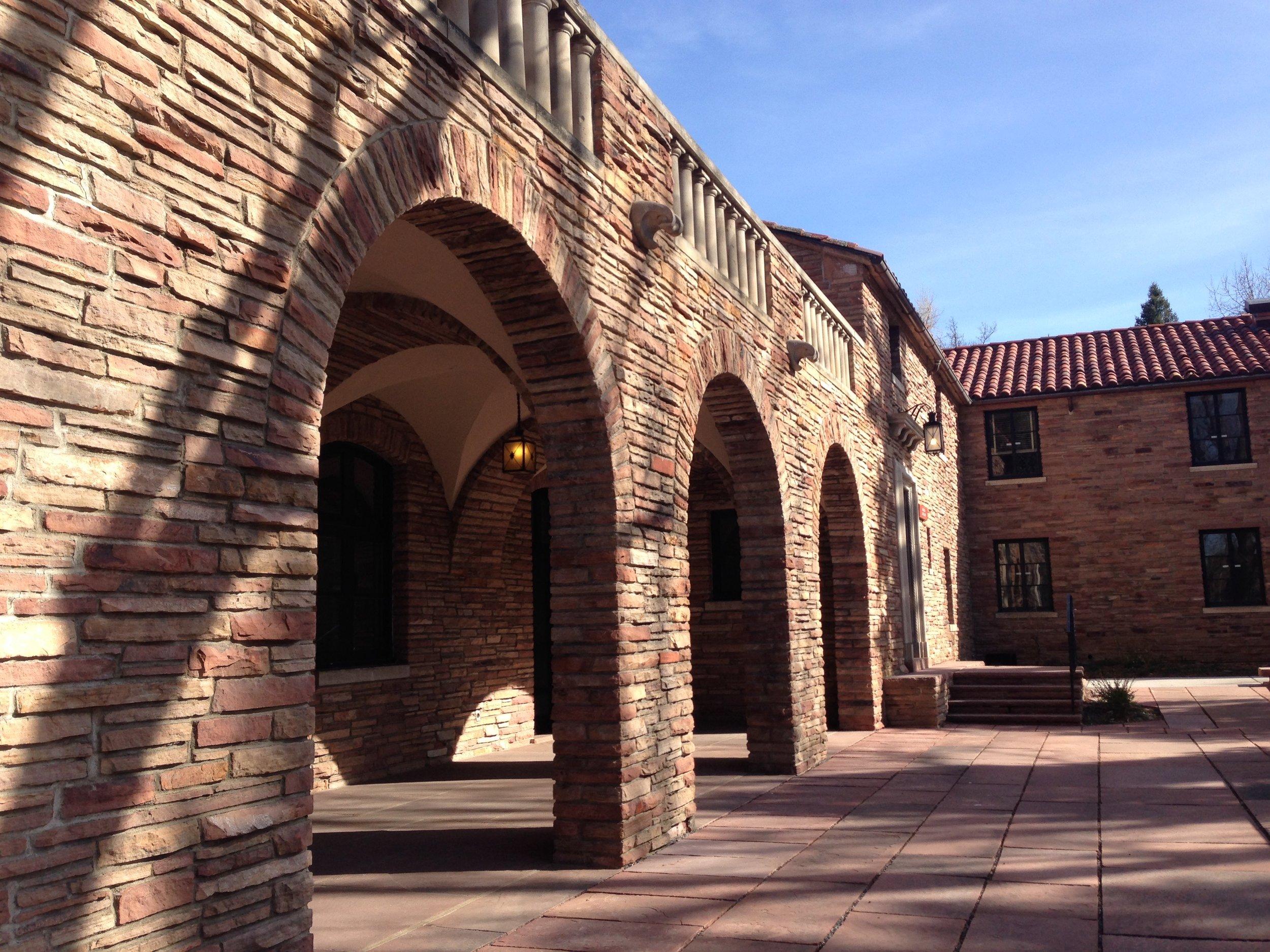 courtyards at CU Boulder