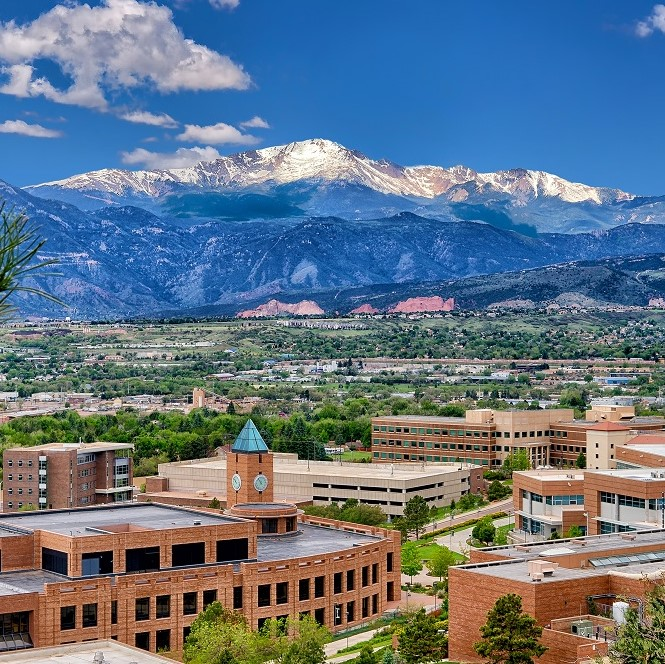 Pikes Peak is always in view at UCCS