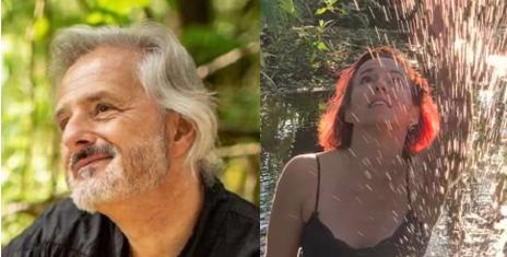 Hans Peter Dibke und Tina Weikard gestalten einzigartige Abende  indem sie Klang und Bewegung forschend verbinden.