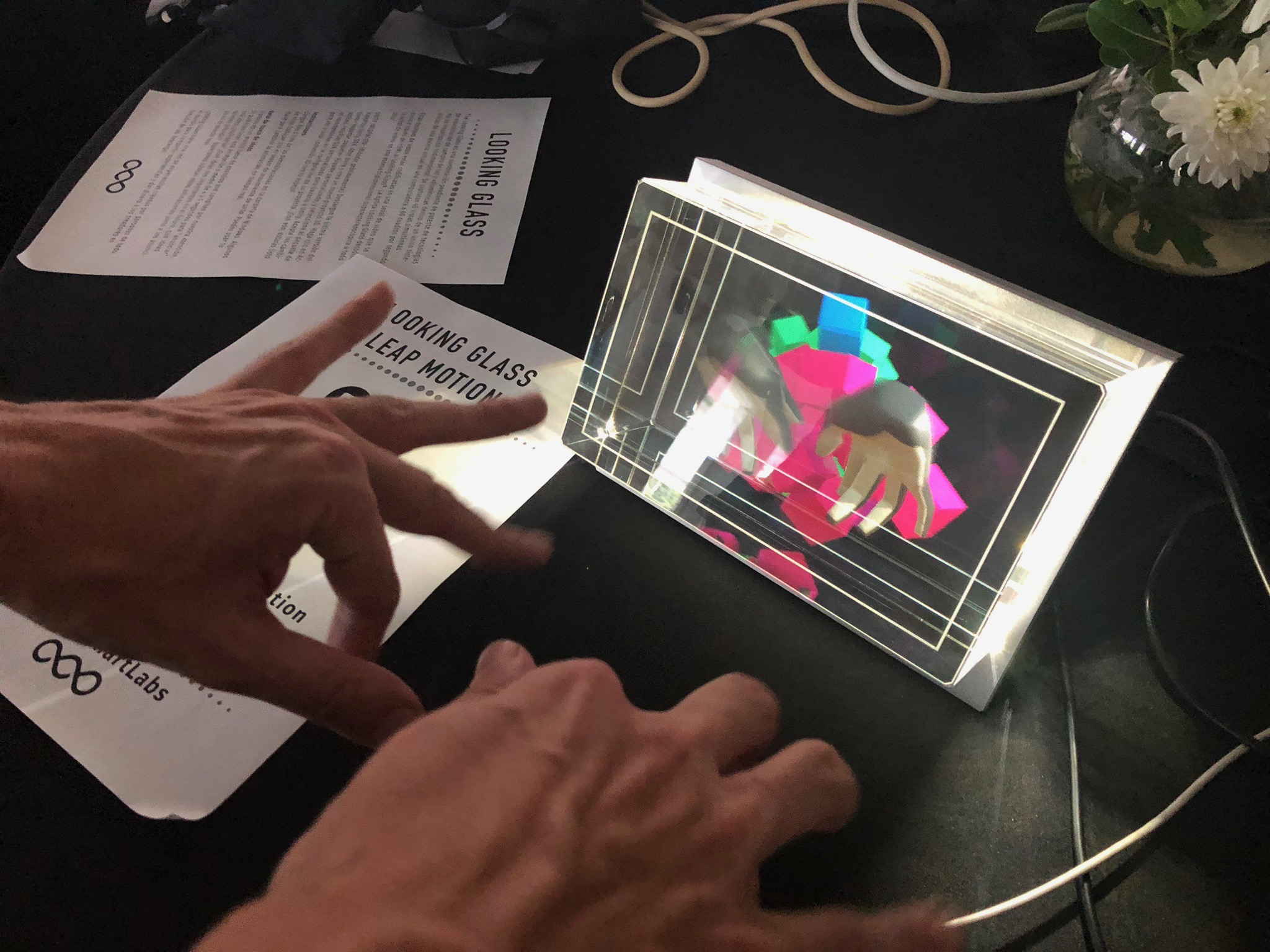Leap Motion  and the  Looking Glass Holographic  display make a good team.