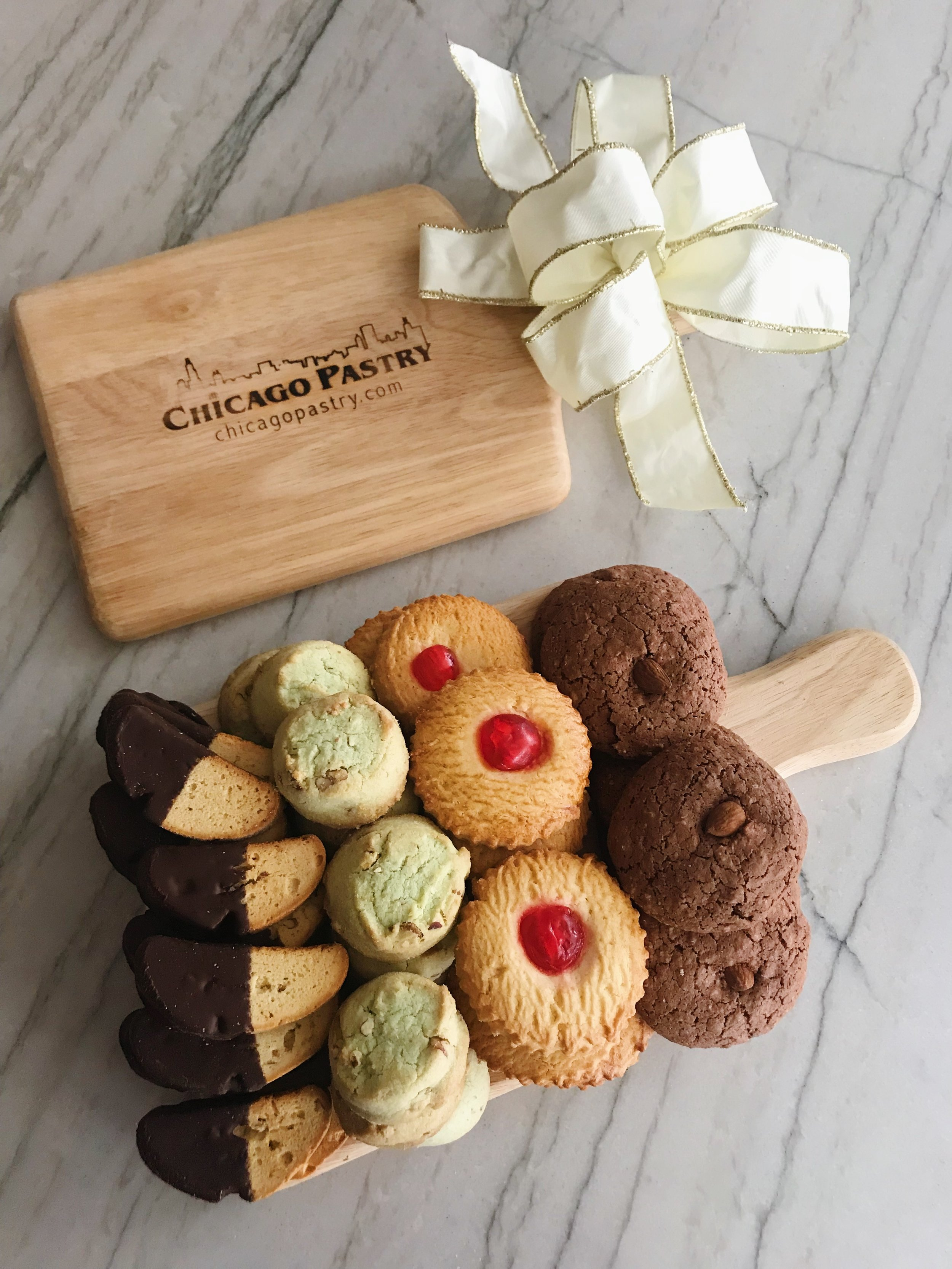 Wooden Cutting Board with Cookies