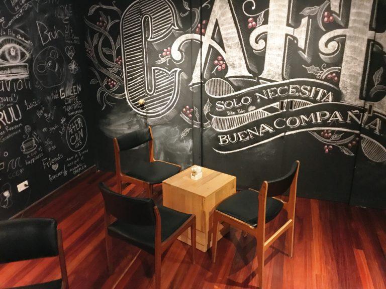 The coffee corner at Kalu