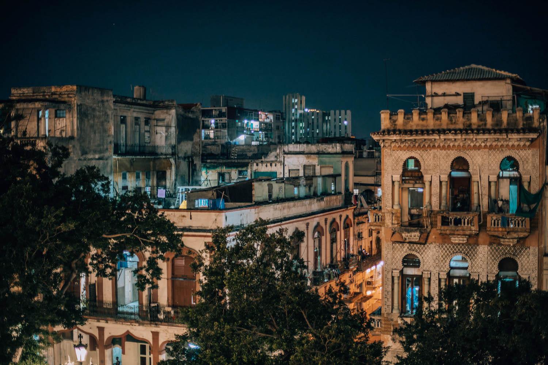 Late night views from the balcony at La Terraza.