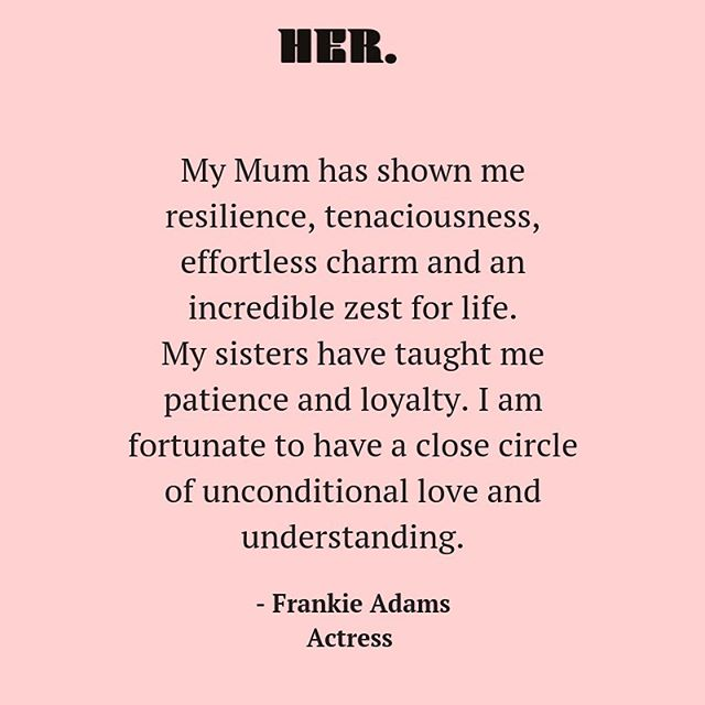 How's your circle looking? 〰️ It's so important to have uplifting, healthy relationships that feed the soul! There's so much beauty when women affirm eachother like Frankie, her Mama + Sisters do to one another💫 xxxx