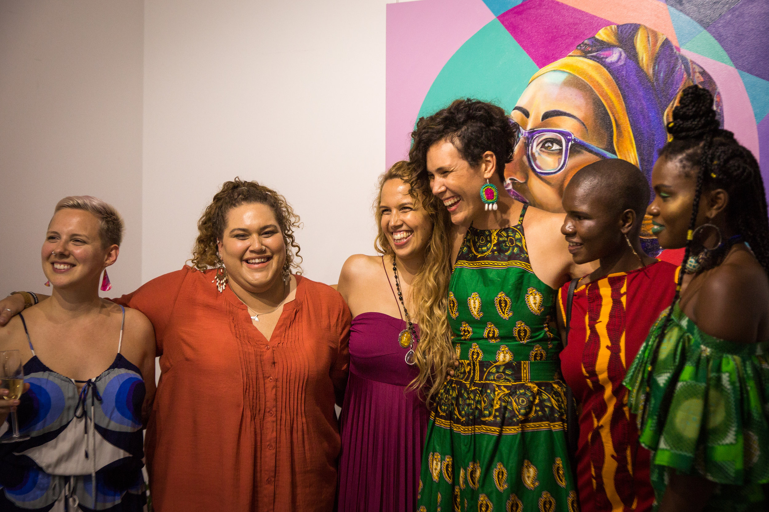 Tamara pictured with women from the series