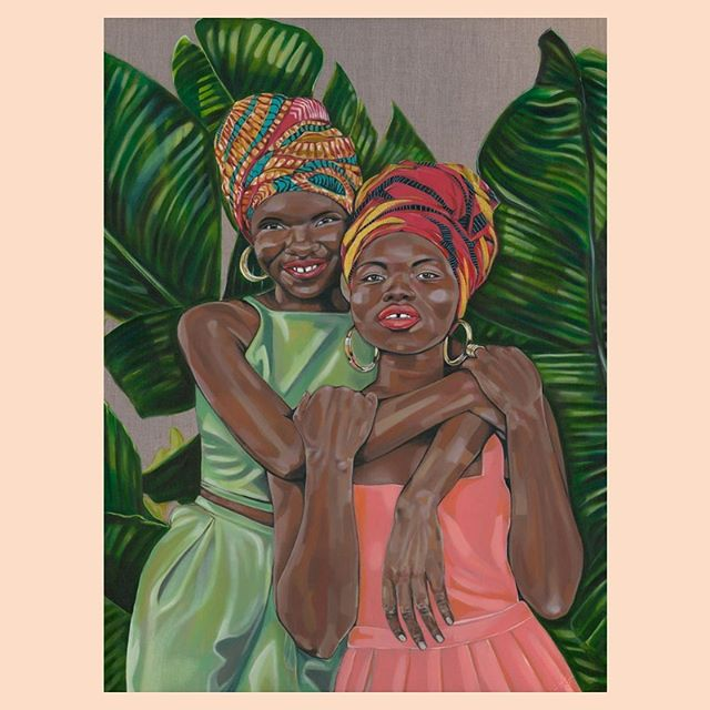 """Women of colour + women of substance 〰️ Here is Tamara's portrait of sisters and fashion designers, Isata and Mariama Thomas. """"I wanted that substance to show through and leave viewers wanting to know more about their stories,"""" - Tamara Armstrong. ✨ #hertheblog"""