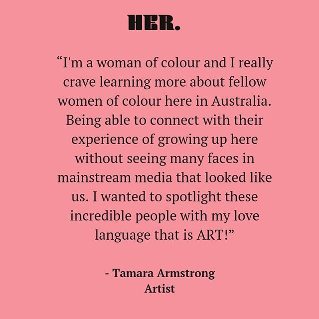 As a Samoan/Australian artist, Tamara has been using her gift of art as a way to create a deeper connection to her cultural roots. She is using her gift to express who she is and what she wants to voice 🌺 #hertheblog