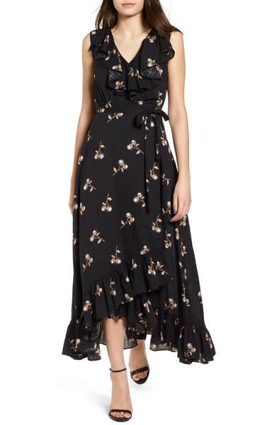 BP. Ruffle Wrap Maxi Dress