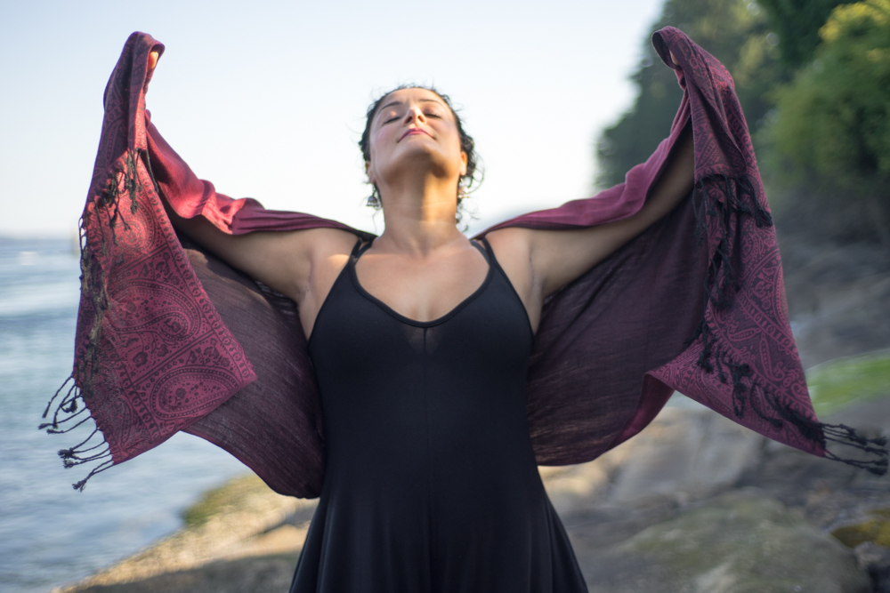 My incredibly strong yogi friend, Salomeh