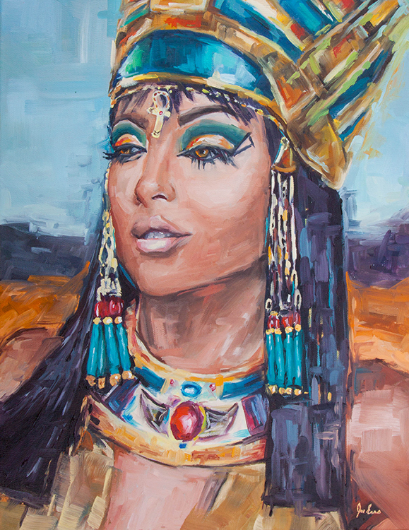Cleopatra for Nasir is an oil painting by Joe Enns.
