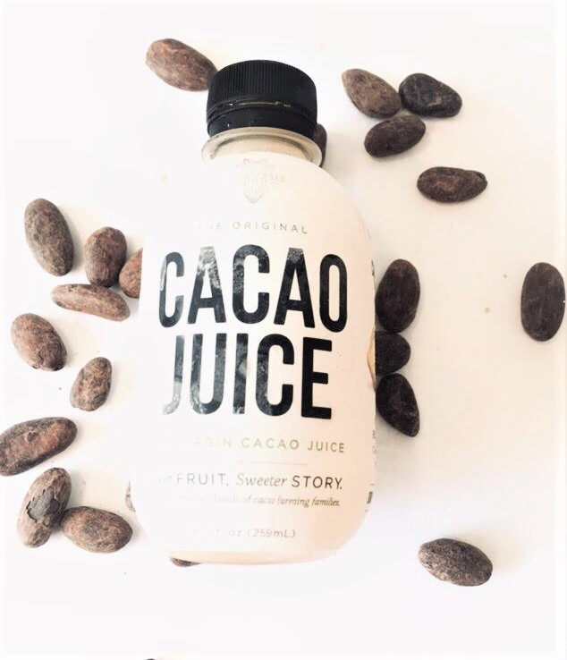 Cacao Juice manufactured by  Repurposed Pod . A unique product that showcases the actual taste of the cacao fruit. (Image credit: Geoseph Domenichiello)
