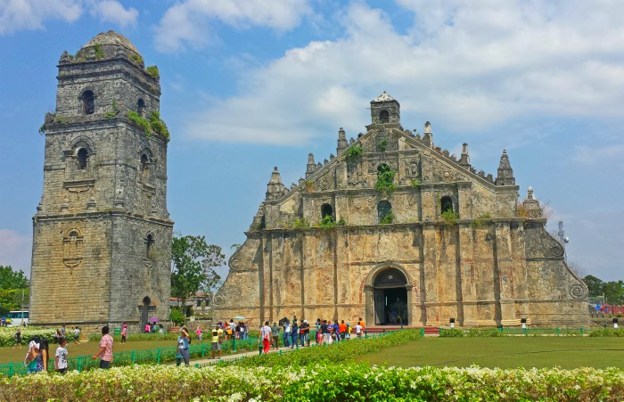 Paoay Church in Ilocos Norte in Northern Philippines. Completed in 1710, but parishes existed in the area since late 16th Century.