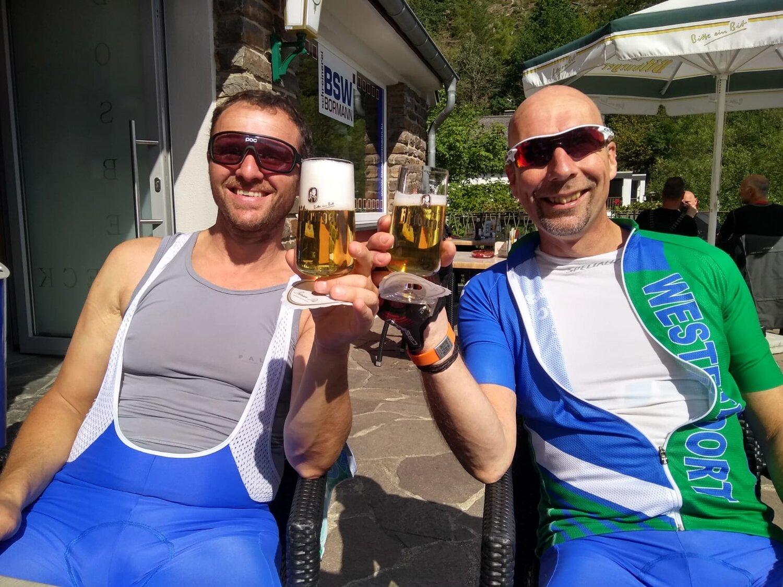 De beloning is een lekker 0.0 biertje in Burg Reuland.