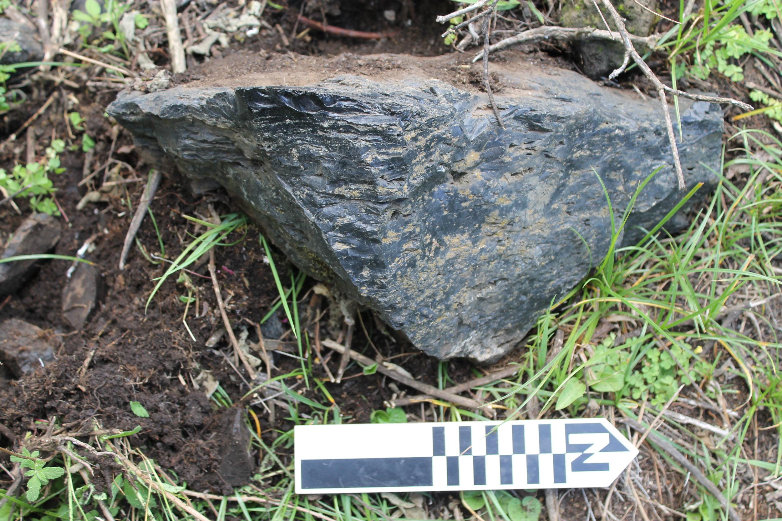 Raw obsidian nodule