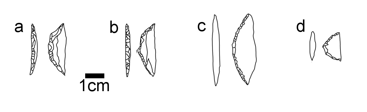 Backed crescent function in SW Kenya - Use of crescents in arrows and composite knives