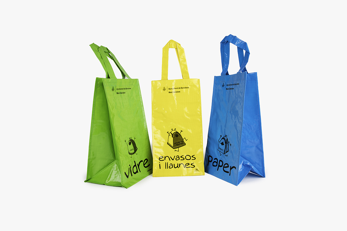 Set de bolsas para recogida selectiva personalizadas
