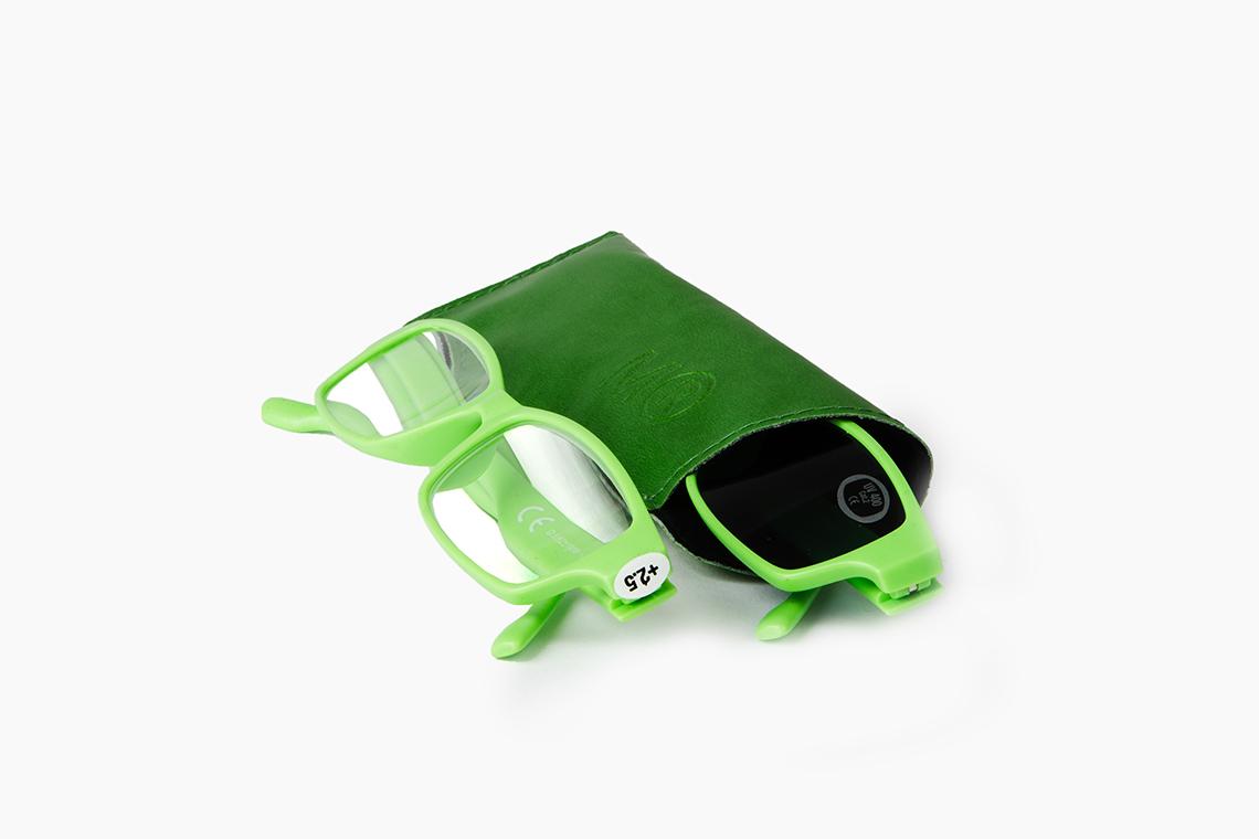 Gafas para presbicia con lentes transparentes o tintadas con protección solar