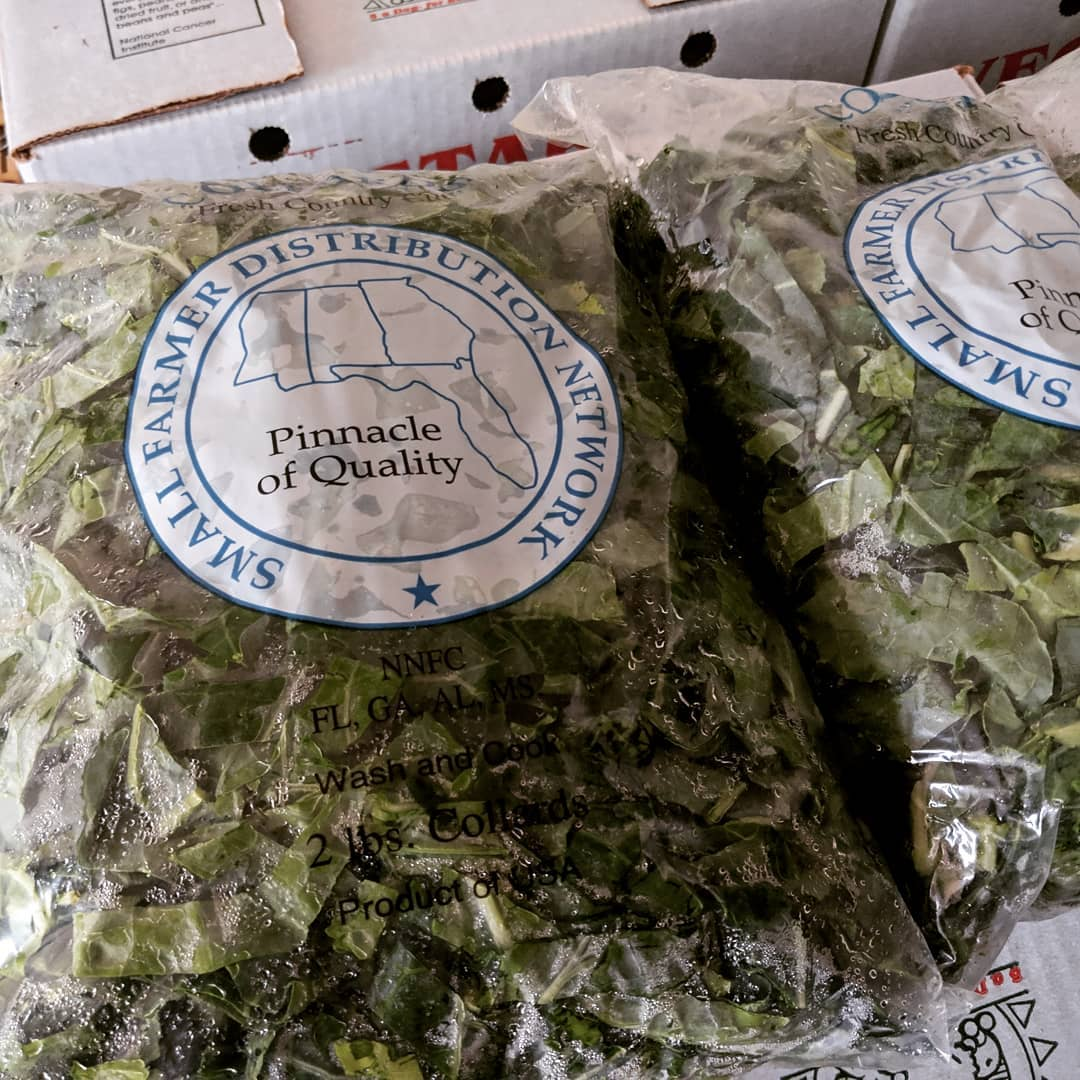 Locally-Grown Collard Greens ready for delivery to Dougherty County Schools