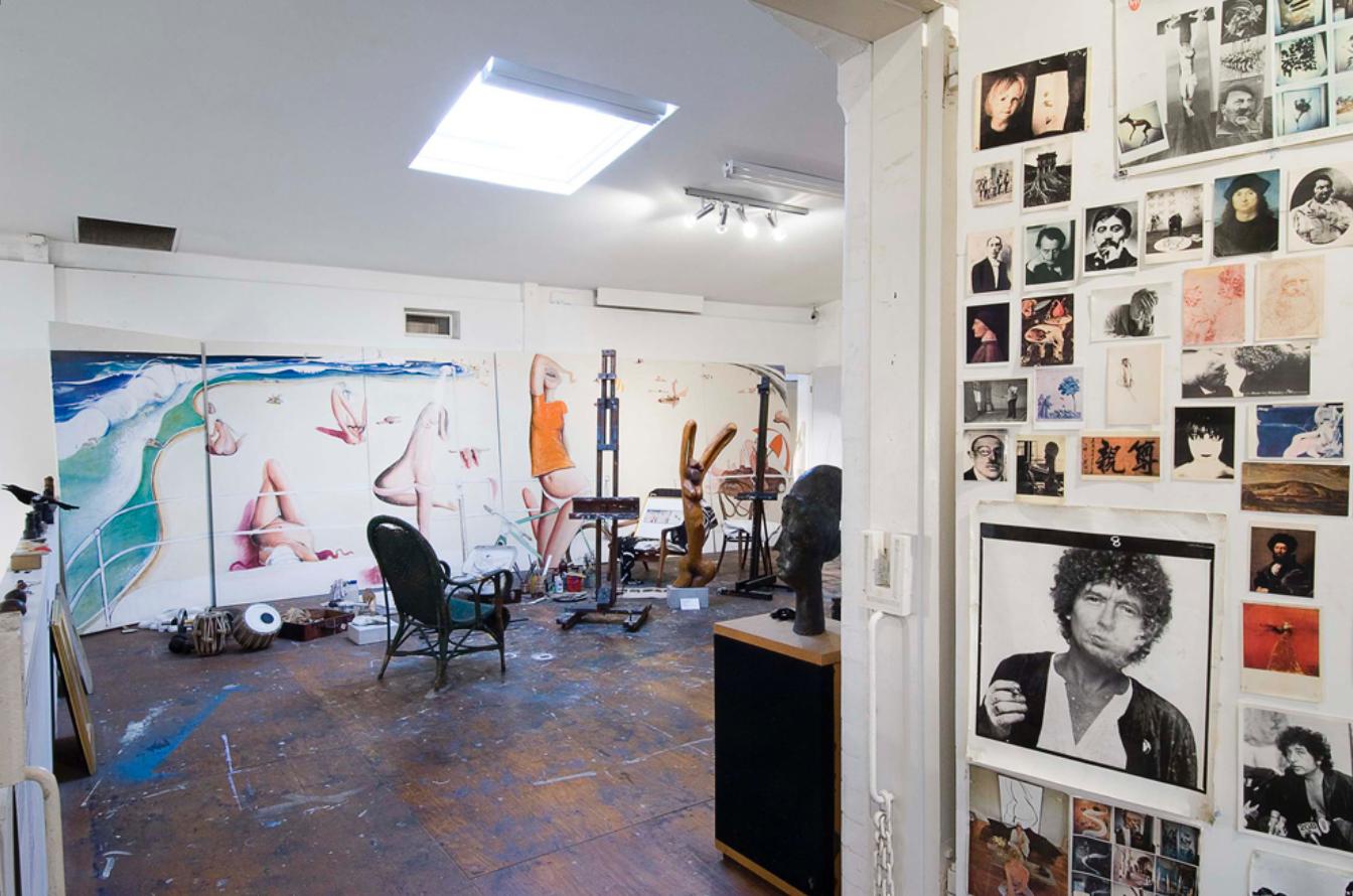 Whiteley's studio (Image courtesy of the Brett Whiteley Studio)
