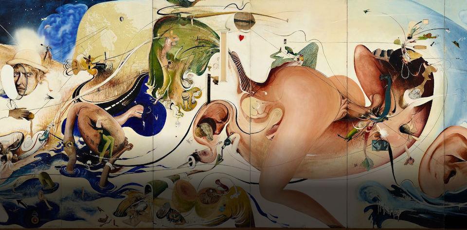 Brett Whiteley, Alchemy, 1972-3 (detail) (Image courtesy of the Brett Whiteley Studio)