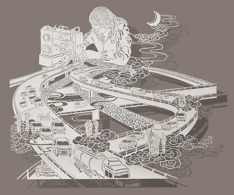 李宝怡,《 Sewing Highways 》《缝出公路》, 2011