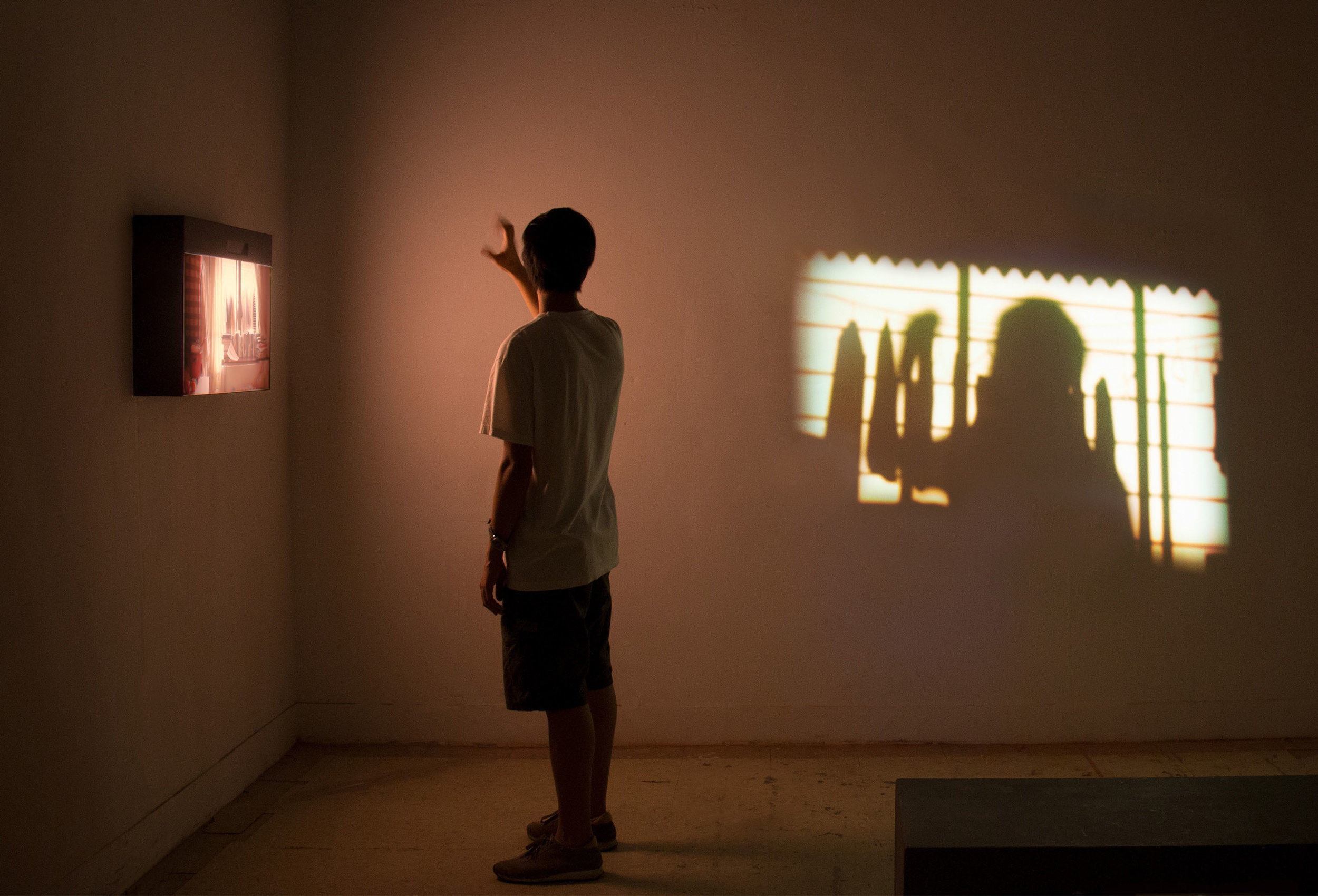 Tsai Fang, 'With the Light', 2017, video, light box. Image courtesy the artist and Fresh Trend.