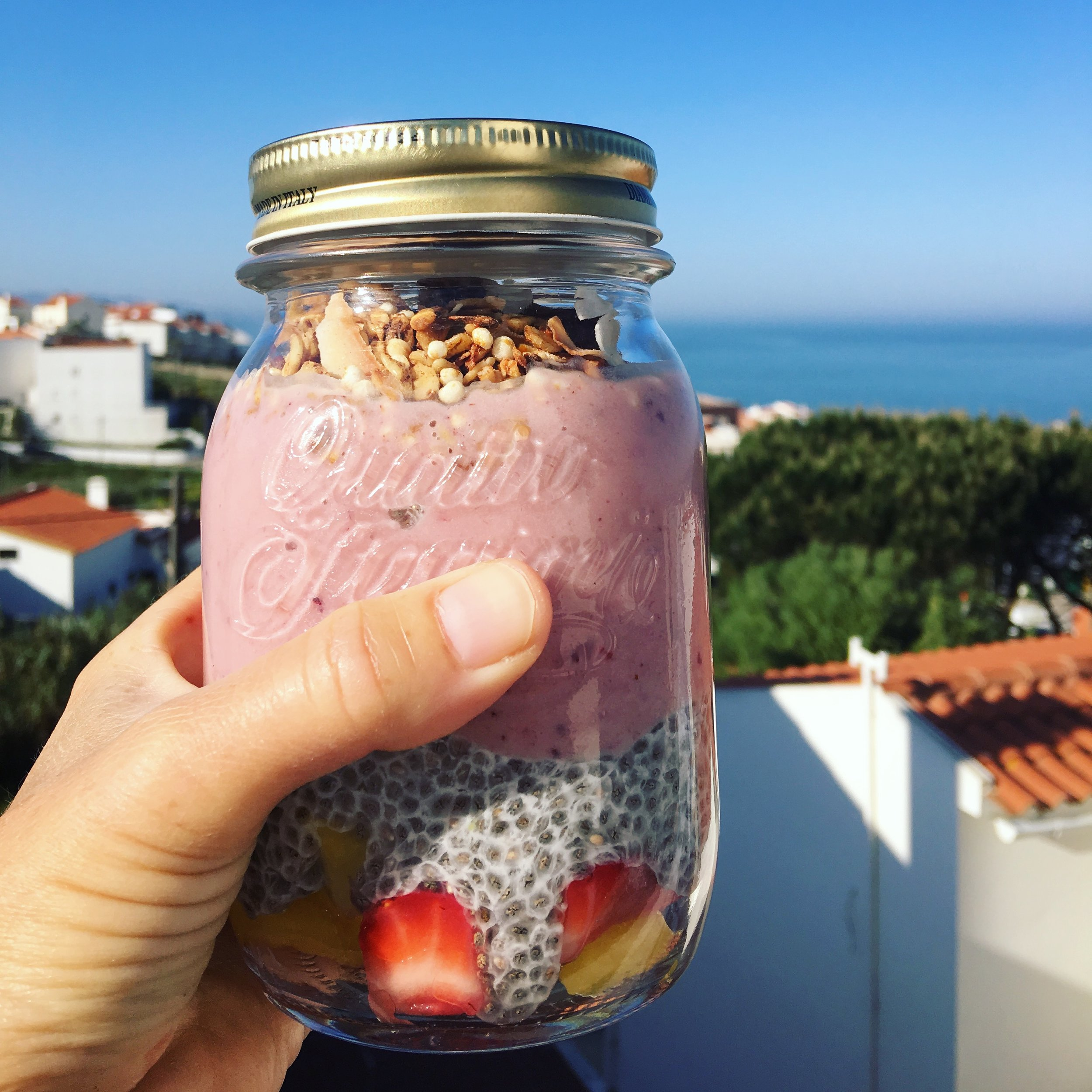 Coco Berry Chia Smoothie - Pop Up Yoga & Brunch Ericeira