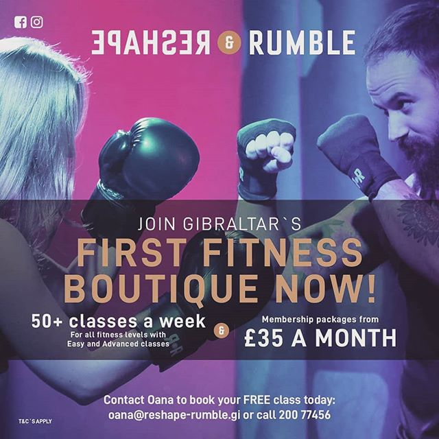 Are you looking to shape and tone your body but you lack the motivation?  Come and try our classes where our instructors are waiting to push your limits and help you achieve your goals.  Free trial classes available.  www.reshape-rumble.gi  #gibraltar #fit #tonedbody #cardio #weightlossmotivation #goals #burpees #treadmillworkout #boxingtraining #wegostrong