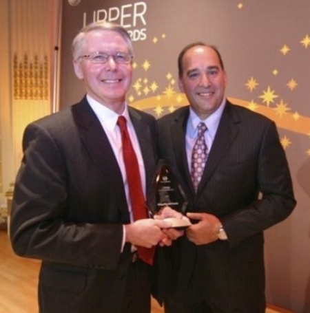 Alan Gayle receiving the  Lipper Award  for best 3-year performance in the Mixed Assets Small category in 2010.