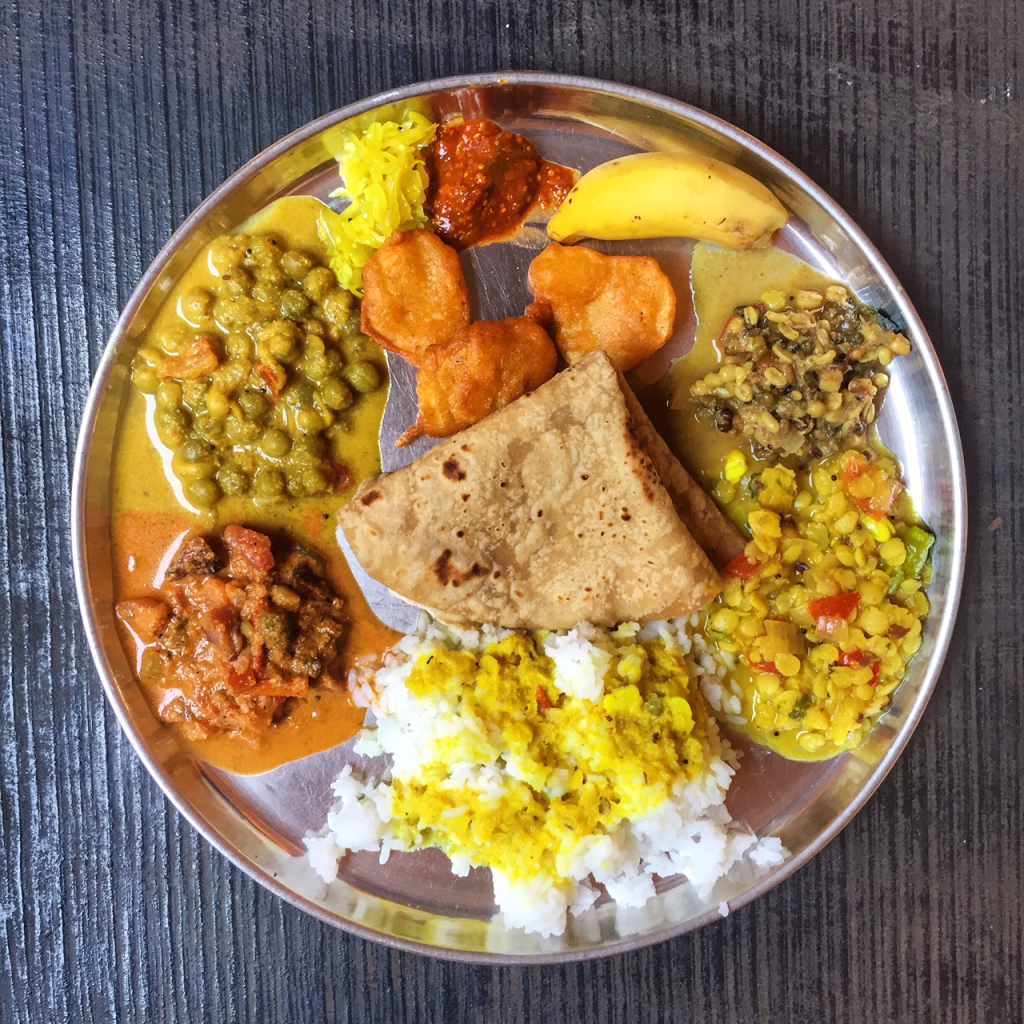 A Vegan Goan meal from the farm