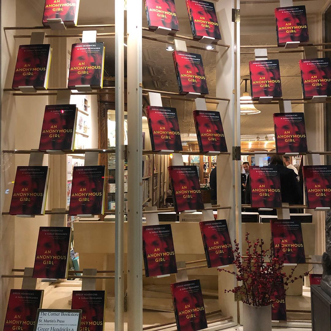 The windows at The Corner Bookstore on Madison Avenue.