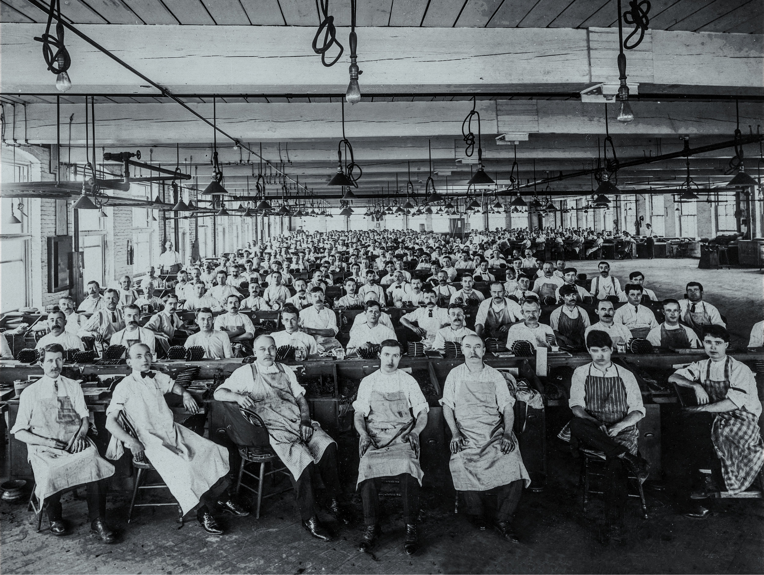 Original T&O Co. cigar rolling floor, circa 1900.