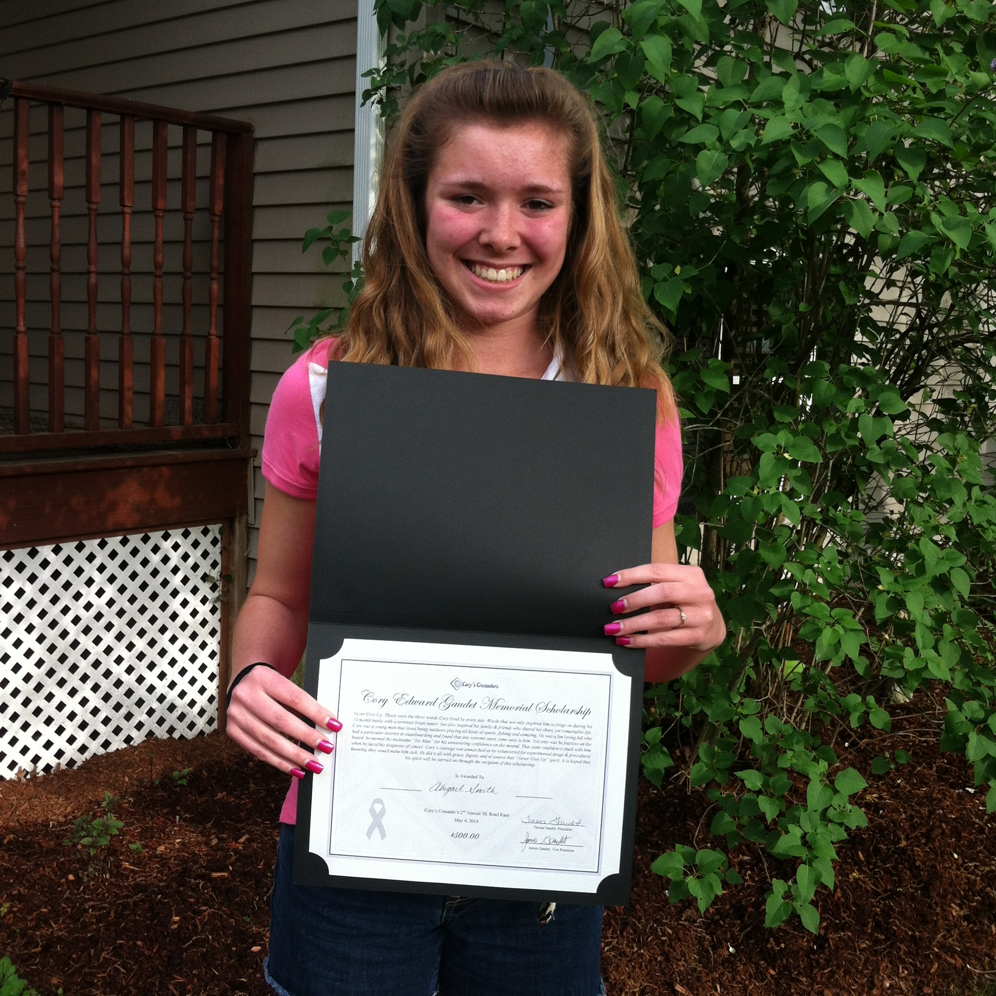 Abby Smith 2nd Annual 5K Scholarhsip Winner.jpg
