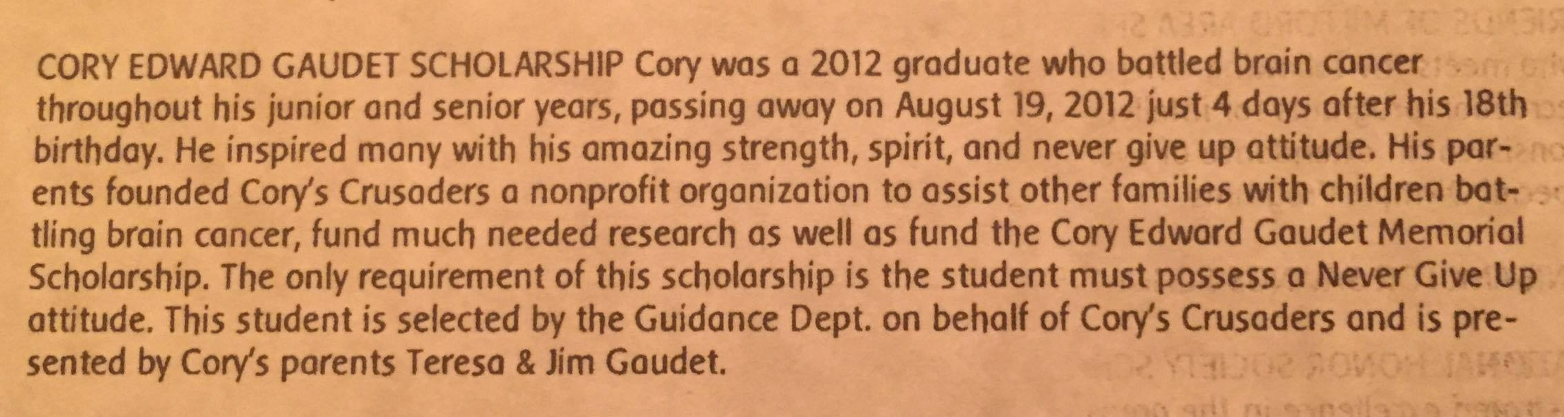 Cory Edward Gaudet Memorial Scholarship.jpg