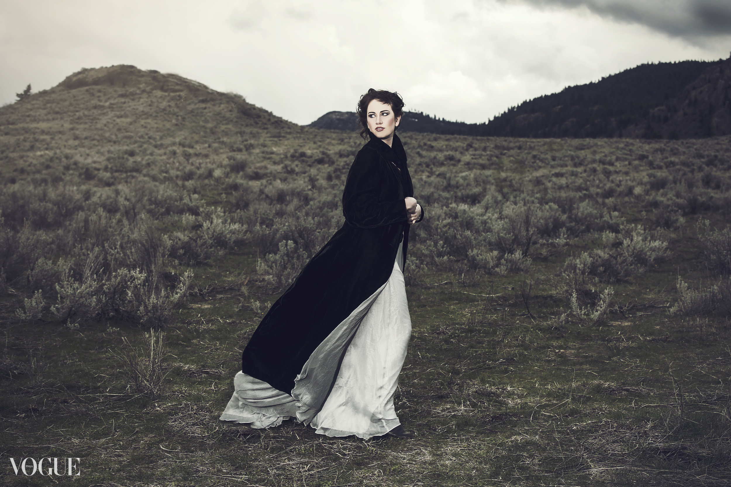 Wuthering Heights photoshoot near Okanagan Falls British Columbia