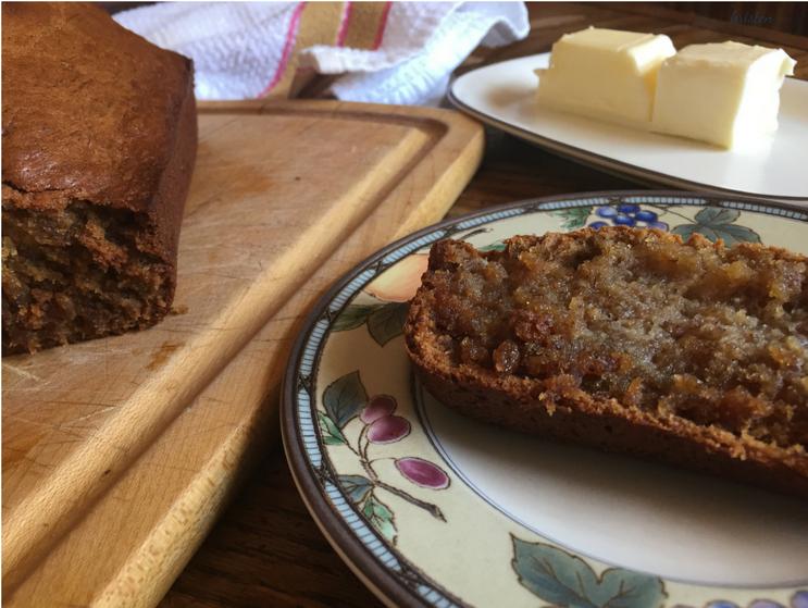 KMartinelli Blog_Writer & Marketer_Banana Bread slice with butter