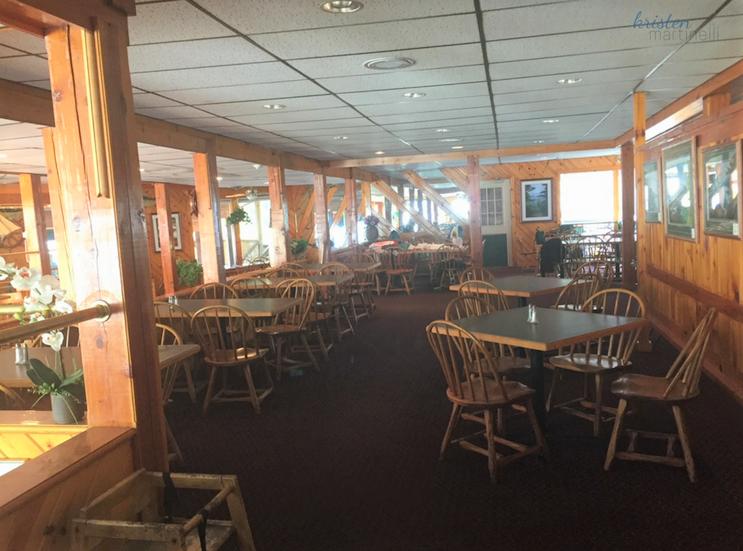 The upper interior dining room