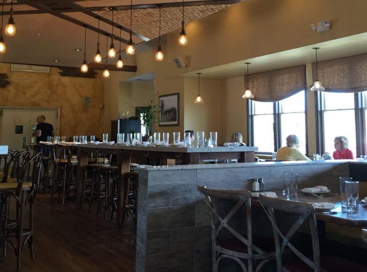 Photo of the large table I sat at | Credit: Noah A. Yelp