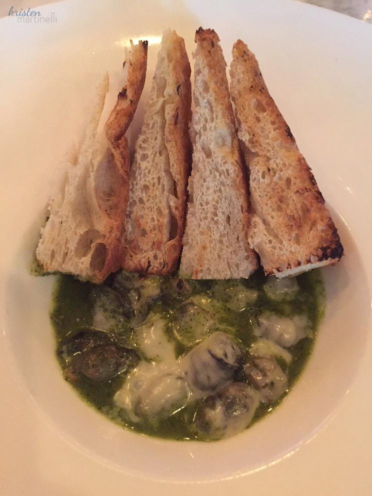 Garlic & parsley butter, splash of cognac, melted gruyere
