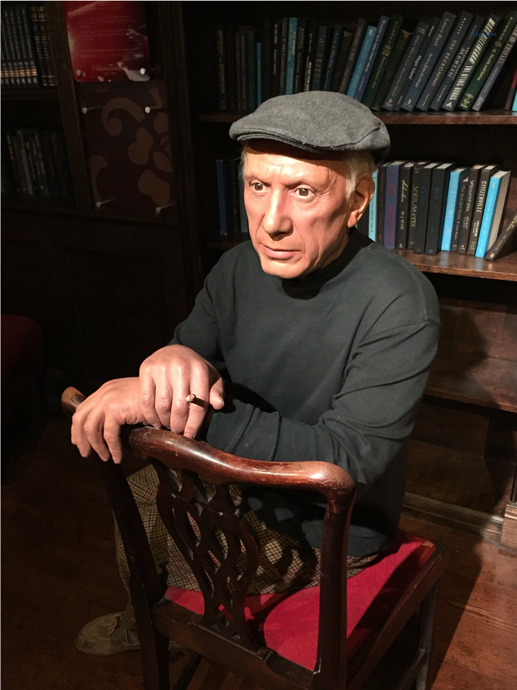 madame tussauds new york_ Pablo Picasso_K.Martinelli Blog.png