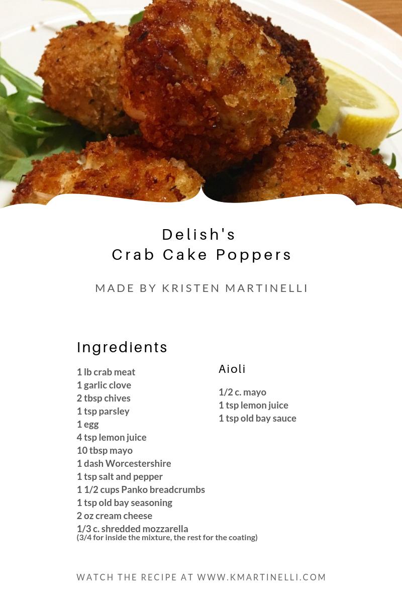 Delish's   Crab Cake Poppers_ Ingredients_K.Martinelli Blog _ Kristen Martinelli
