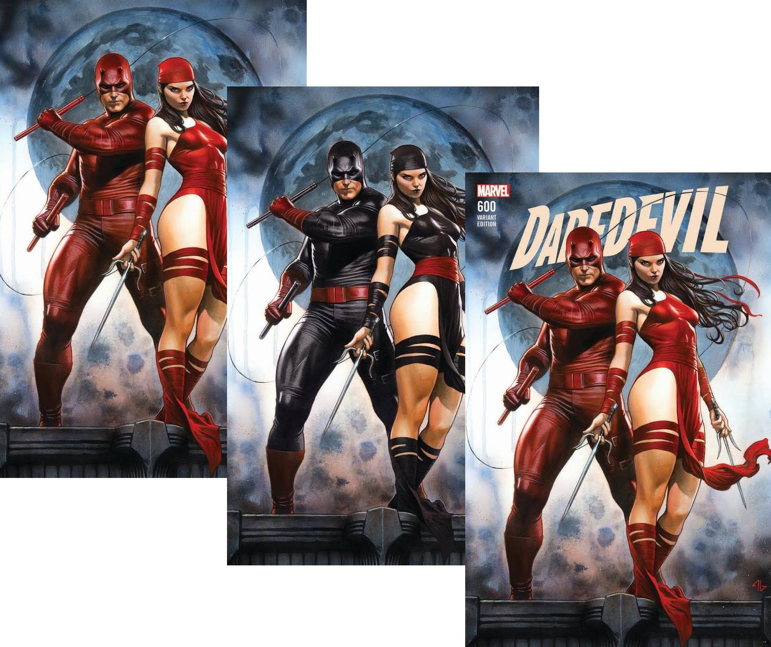 The three versions of the amazing Adi Granov variant, available only from us - click through on the image to order!