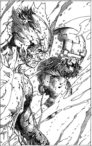 Great, right? Pencils from  Return of Wolverine #1  by Steve McNiven.