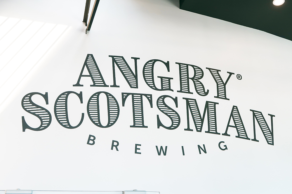 Custom Angry Scotsman Brewing Wall Decal by Lettering Express