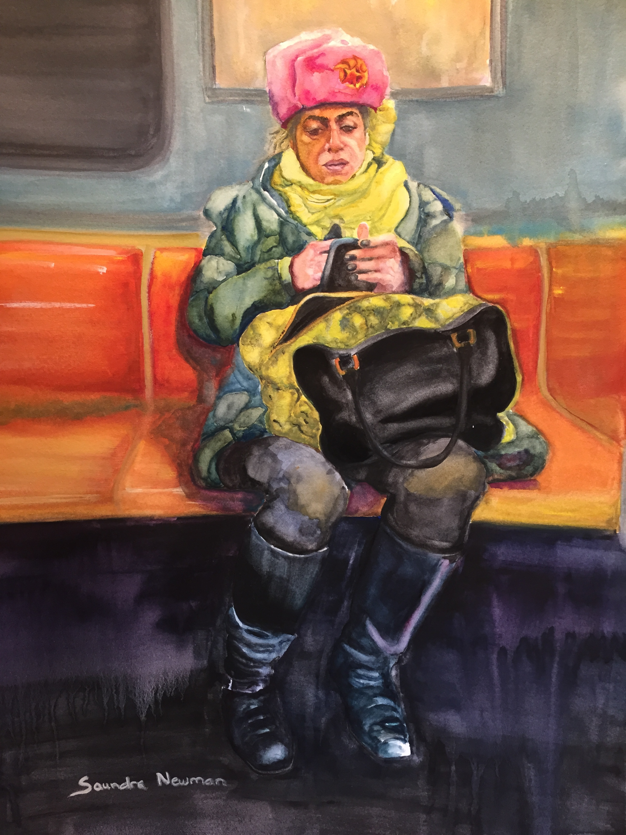 Subway Ride No. 5 (SOLD) (see blog for awards)