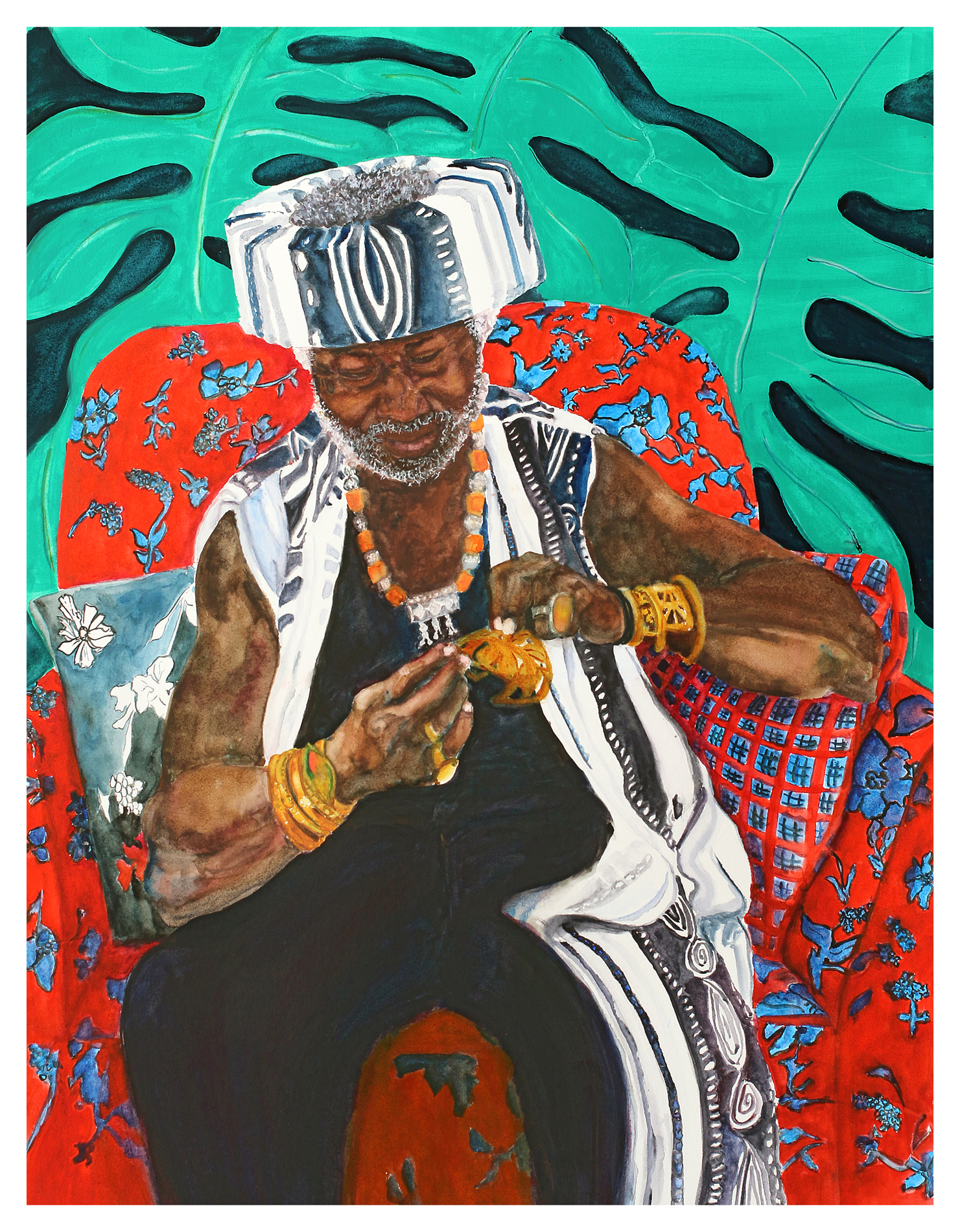 """KENYATTA"" (most recent painting)"