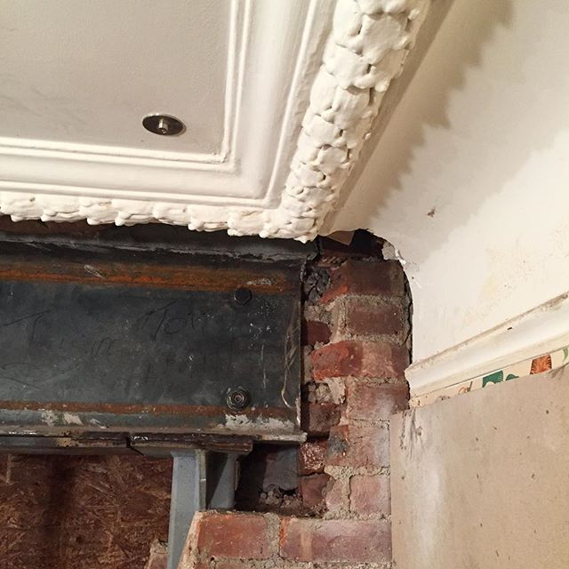 New steel and old plaster.